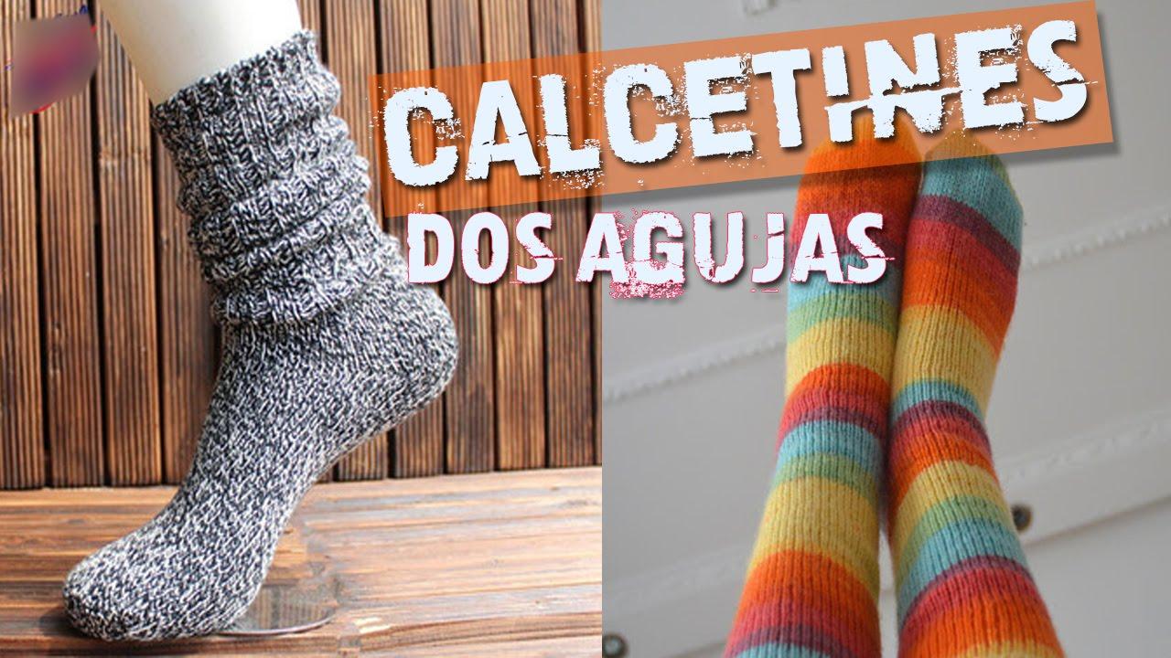 Calcetines tejidos en dos agujas viyoutube - Como hacer calcetines de punto ...