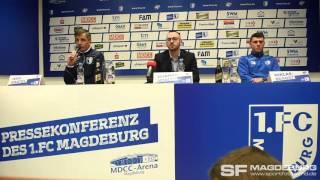 Pressekonferenz vor dem Spiel - Chemnitzer FC gegen 1. FC Magdeburg - www.sportfotos-md.de