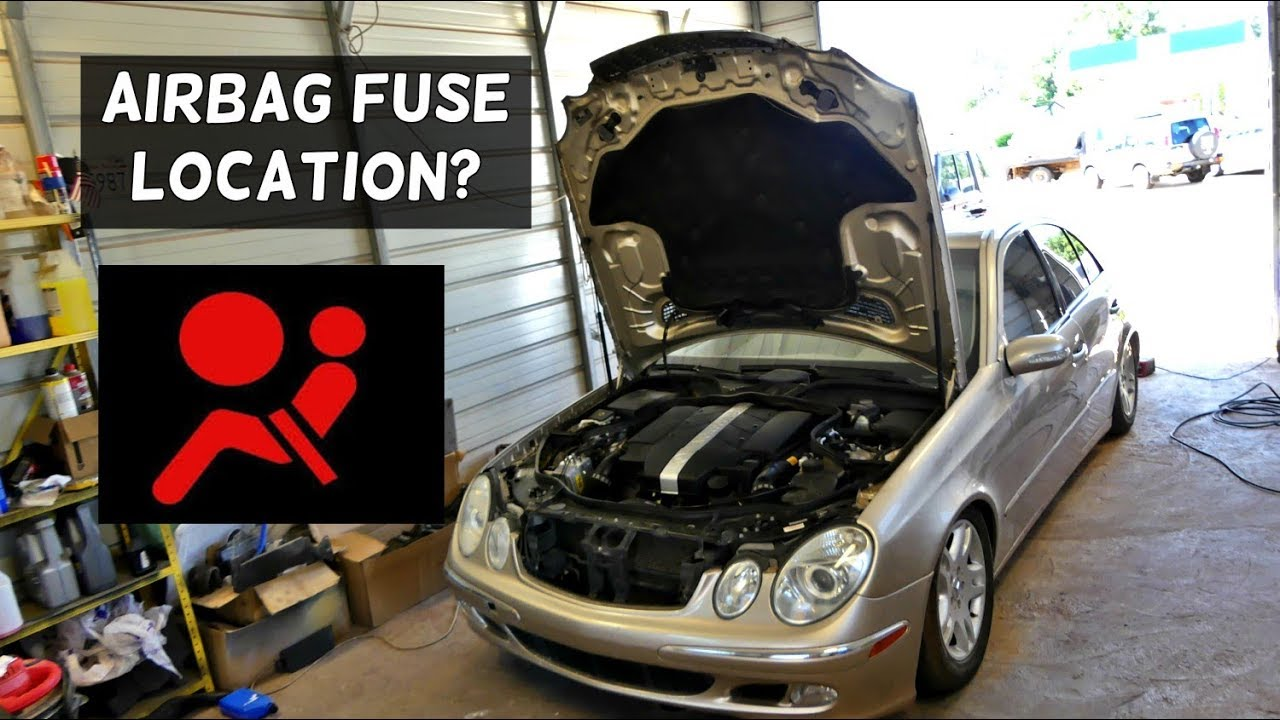 small resolution of mercedes w211 airbag fuse location replacement