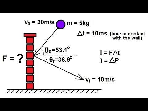 Physics mechanics impulse momentum 2 of 6 ball hitting wall physics mechanics impulse momentum 2 of 6 ball hitting wall ex 1 youtube ccuart Images