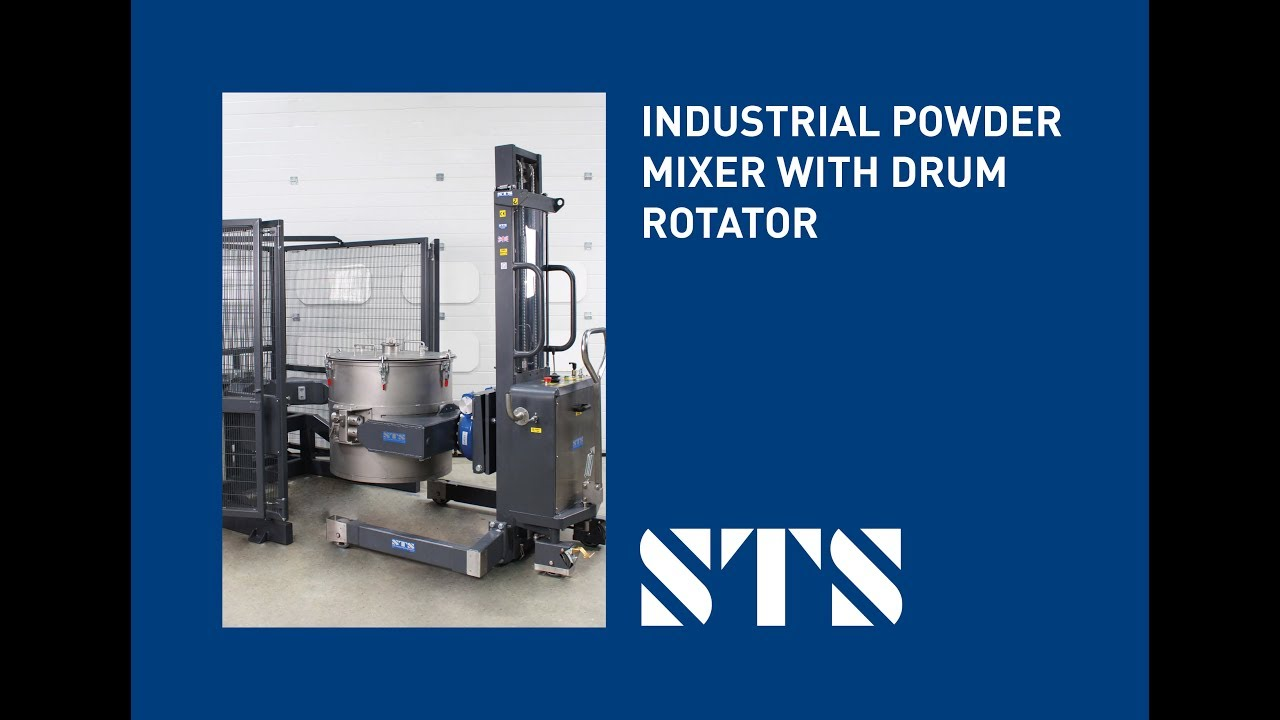 Additive Manufacturing - ATEX Industrial Drum Mixer (Model: DMP01-HD-Ex-SP)