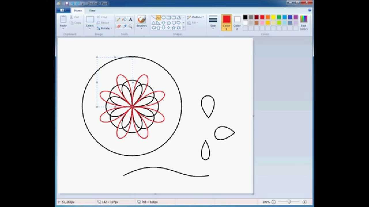 how to use ms paint tools