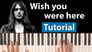 Como tocar Wish you were here(Pink Floyd) - Piano tutorial, partitura y Mp3