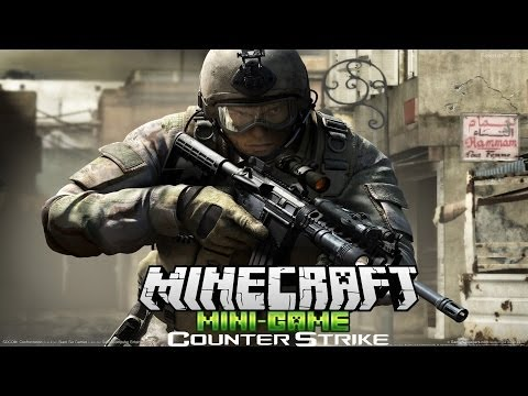 Counter Strike в Minecraft - Мини Игры - #1 - Тащим!