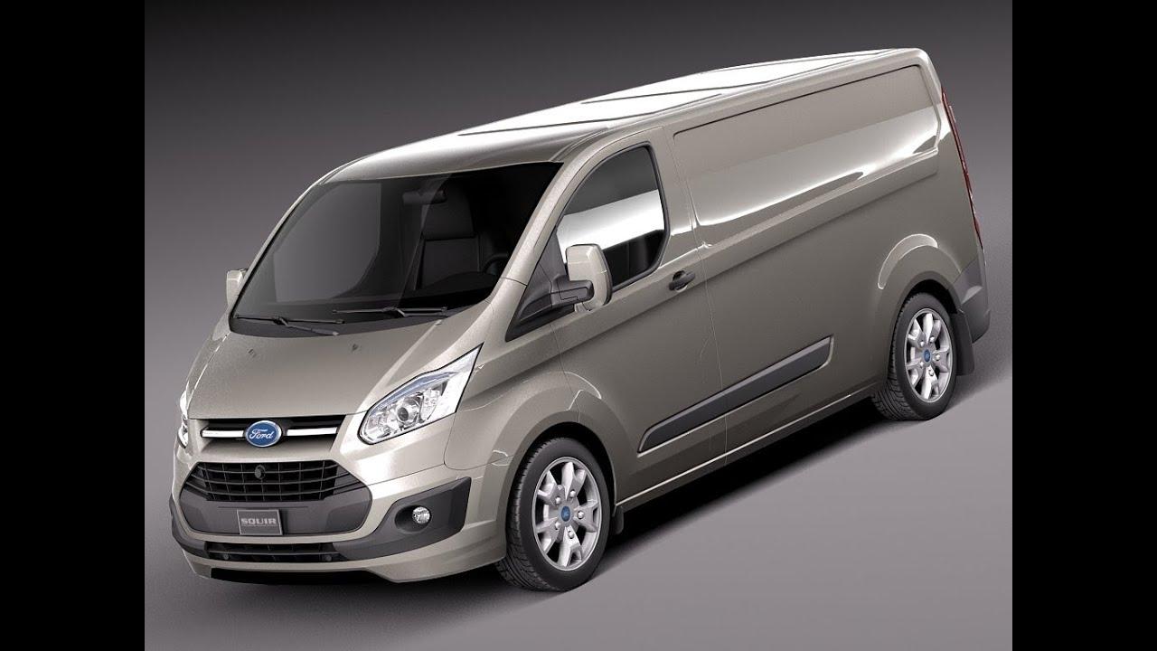 3d model ford transit custom van lwb 2013 at youtube. Black Bedroom Furniture Sets. Home Design Ideas