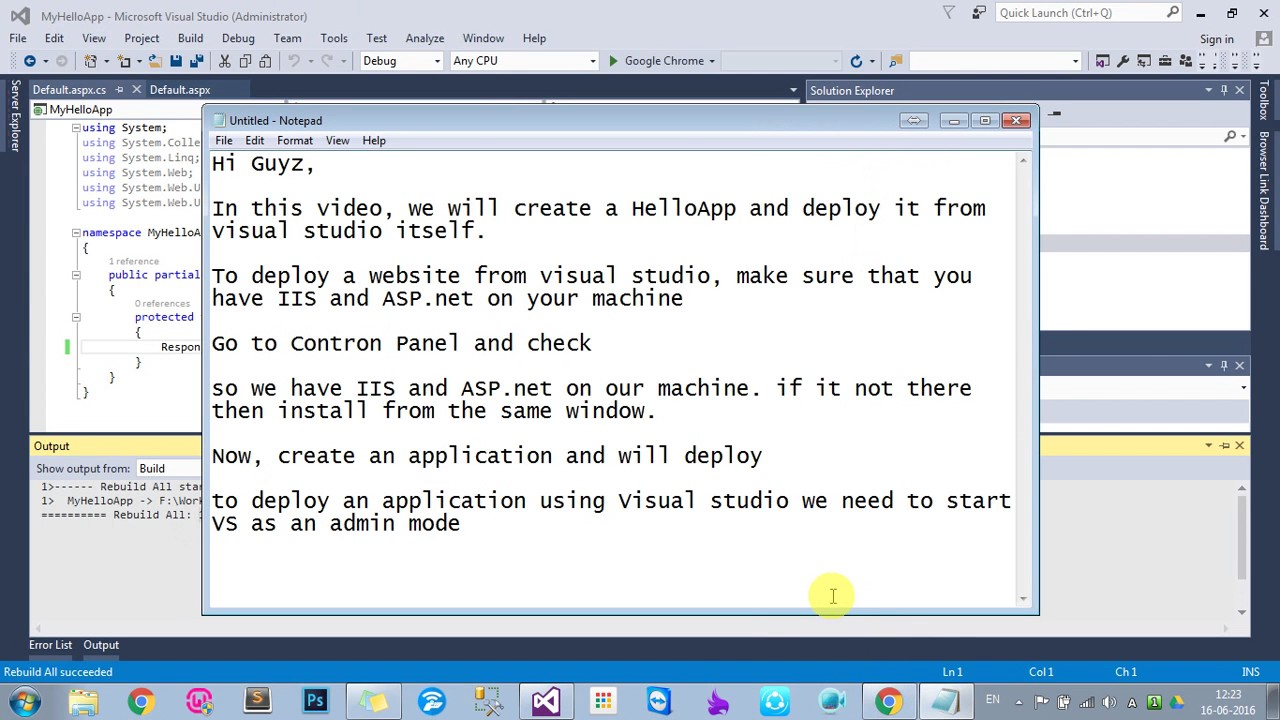 How to deploy and debug a website on Local IIS using visual studio