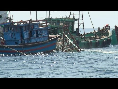 Indonesia Sinks Dozens Of Impounded Foreign Boats