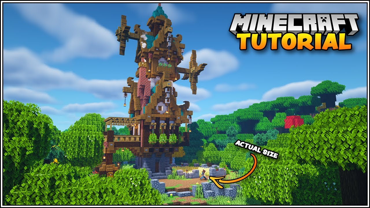 Minecraft Tutorial - How to Build a Fantasy Steampunk House in Minecraft
