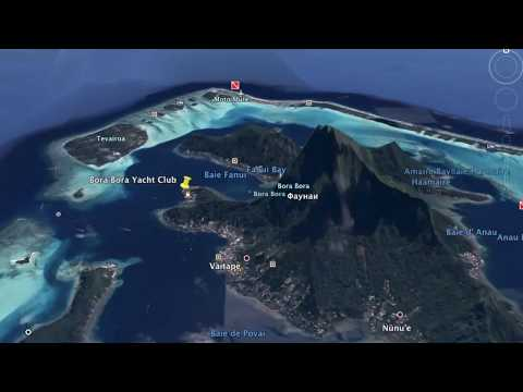 14-days route for sailing around Society Islands (French Polynesia)