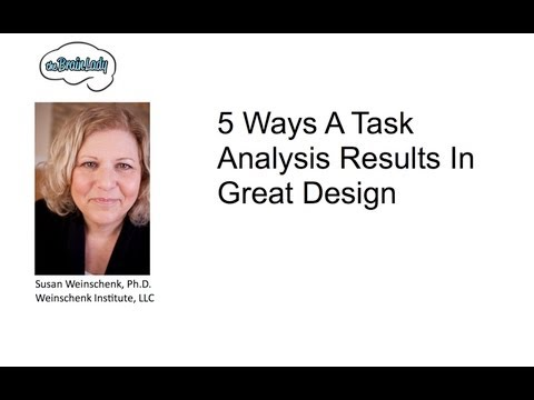 Web Design: Task Analysis for Great Design