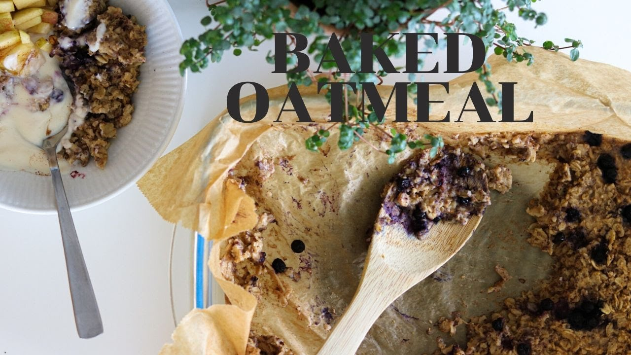 Baked Peanut Butter Oatmeal / Easy And Delicious Breakfast Recipe (Vegan)