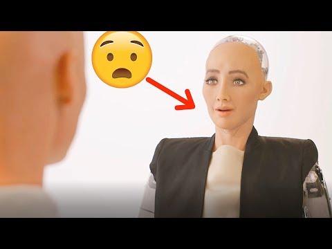 "CREEPY Lifelike Robot ""Sophia Robot"" REACTION - First Robot Citizen of Saudi Arabia #Sophia #Robot"