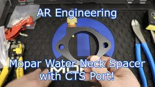 AR Engineering Mopar Water Neck Spacer with CTS Port: A Must Have For EFI