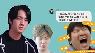 BTS Texts - April Fools: Hitman's pranks [BTS secret group chat]