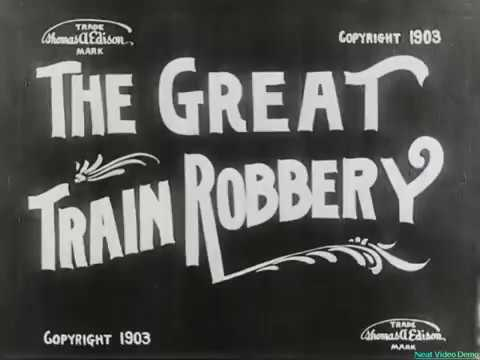 The Great Train Robbery (1903). Deshaked, denoised, 60fps