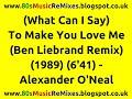 Miniature de la vidéo de la chanson (What Can I Say) To Make You Love Me (Ben Liebrand Remix)