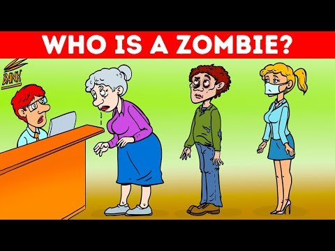 ZOMBIE RIDDLES MIXED WITH DETECTIVE STORIES! 19 COOL RIDDLES