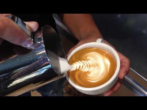 กาแฟ : Latte art Swan (09Jun17) / เรียนทำกาแฟสด / สอนชงกาแฟสด