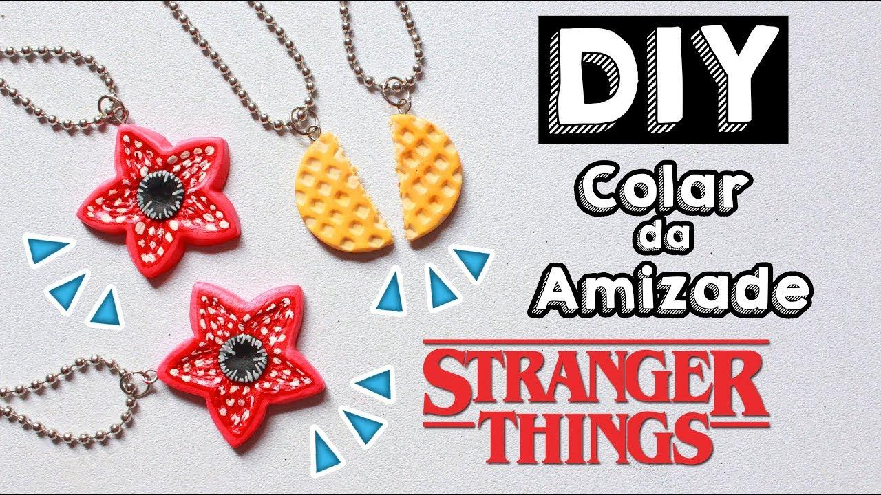 Colar Da Amizade Diferentes: DIY - COLAR DA AMIZADE DE STRANGER THINGS