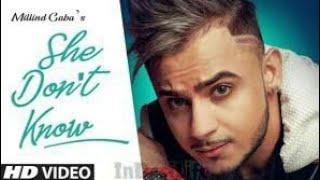 Gambar cover She Don't Know: Millind Gaba Song | Shabby | New Hindi Song 2019 | Latest Hindi Songs