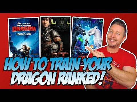 All 3 How To Train Your Dragon Films Ranked!  (w/ How To Train Your Dragon The Hidden World)