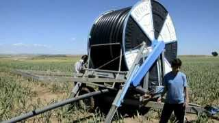 Cadman irrigation systems with gun cart free video and for Irrigatori nelson