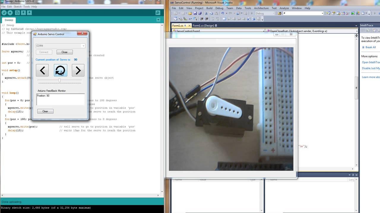 Arduino and c servo motor control electrocorner