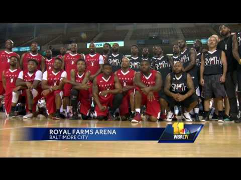 Video: Torrey Smith returns to Baltimore for charity basketball game