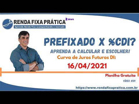 Prefixado ou Selic? Curva de Juros Futuro DI B3 - 16/04/2021 - Vídeo 39