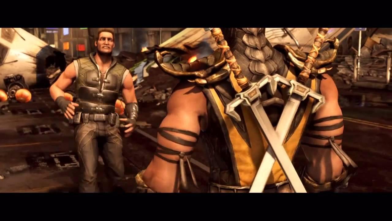 Mortal Kombat X Intro Johnny Cage Vs Scorpion Sub Zero Ps4