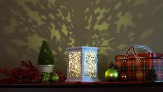 Laser-cut Lantern: Delicate Snowflake Pattern