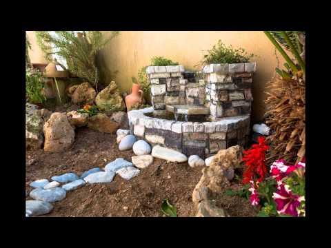Decorando el jardin con fuente de agua youtube - Fuentes de jardin rusticas ...