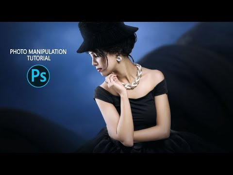 Fantasy Portrait - Photoshop Manipulation Tutorial - flying dress thumbnail