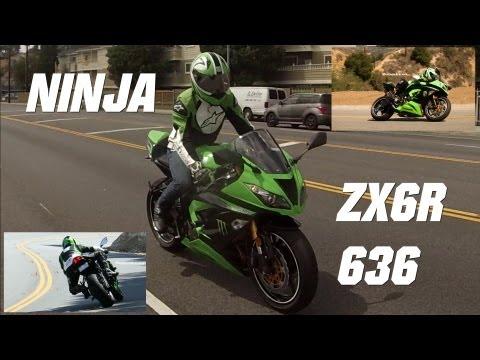 Kawasaki Ninja 636 ZX6R M4 Exhaust Sound + Motorcycle Photo Shoot