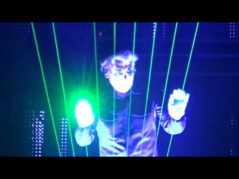 Jean Michel Jarre London 02 Arena. Laser Harp. 7th October 2016