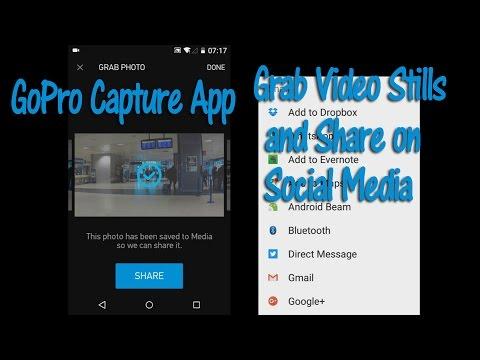 How to Grab Video Stills using Gopro Capture App