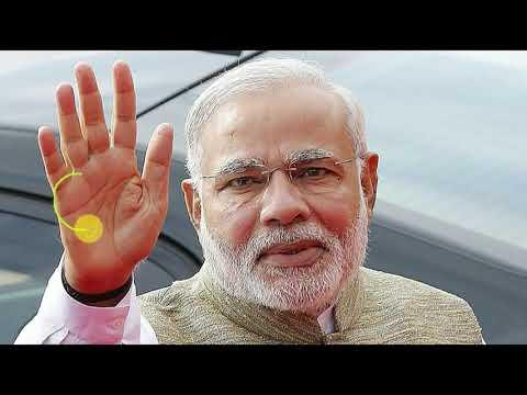 Mr. Narendra Modi's Palm reading | Modi has fish sign on his palm