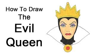 How to Draw the Evil Queen (Snow White)(Visit http://www.EasyDrawingTutorials.com when watching this video for the simple step-by-step instructions and PAUSE the video after each step to draw at ..., 2013-12-01T08:03:15.000Z)