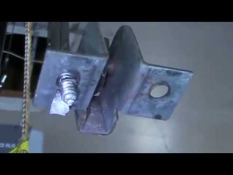 Garage Door Bracket garage door bracket repair - youtube