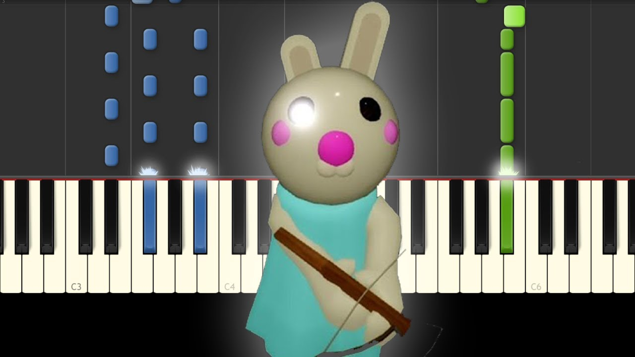 Piggy Roblox Bunny Piano Tutorial Chapter 7 Youtube