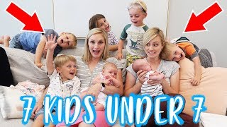 24 HOURS WiTH 7 KiDS UNDER 7 YEARS OLD! | Ellie And Jared
