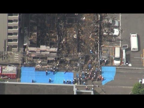 宿泊所火災、捜索を再開 出火原因究明へ 川崎署が現場検証