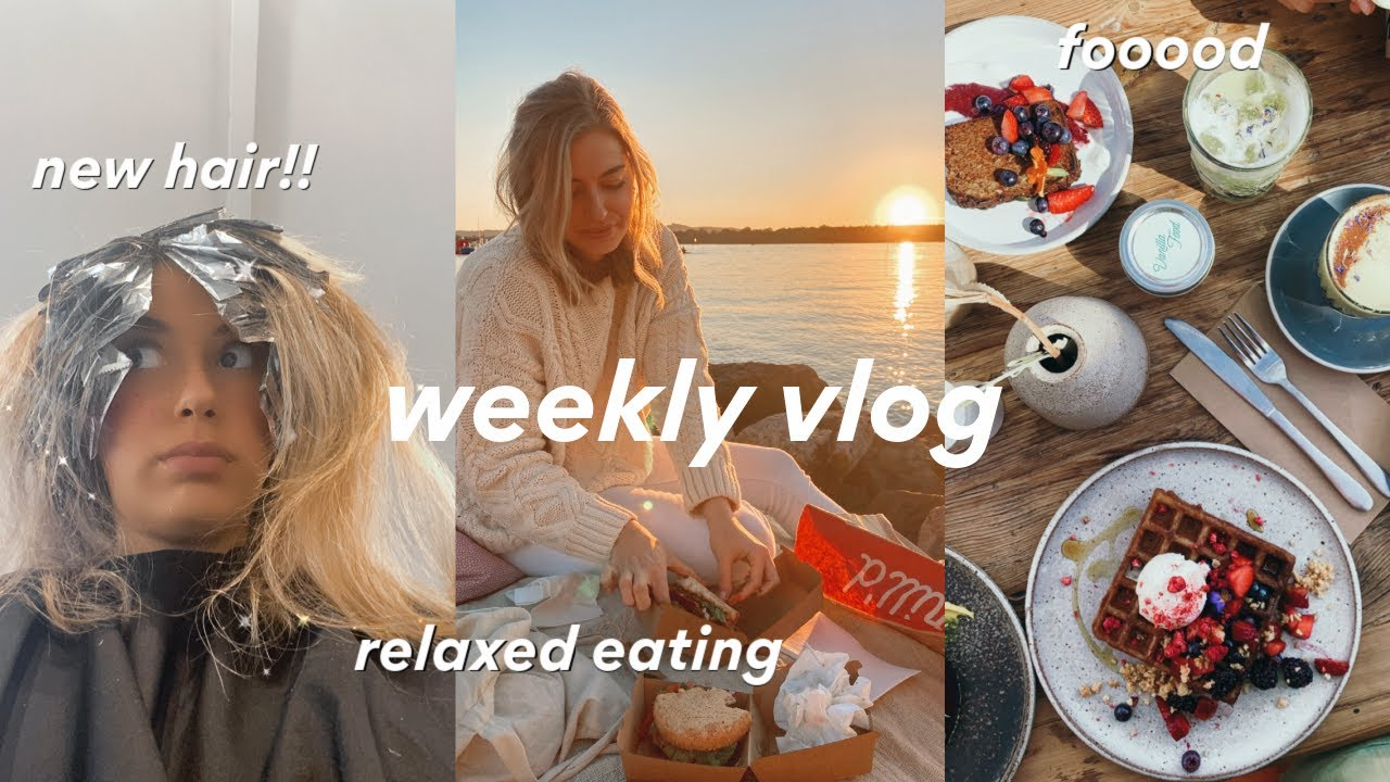 [WEEKLY VLOG] relaxed eating, new hair & new camera