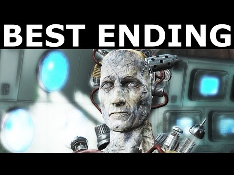 Fallout 4 Far Harbor BEST ENDING - Peace Between DiMA, Children Of Atom & Far Harbor (Peaceful End)