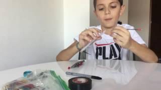 Como hacer pistolas de plumas