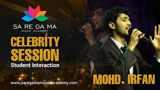 Mohd. irfan interacting with saregama music academy students