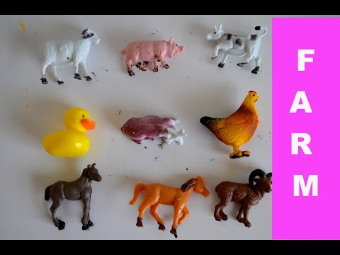 Old Mac Donald Nursery Rhyme- Learn Farm Animals with toys-Kids Z Fun-Preschool learning
