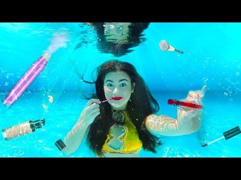 Doing my Makeup Underwater! Extreme Makeup Challenge