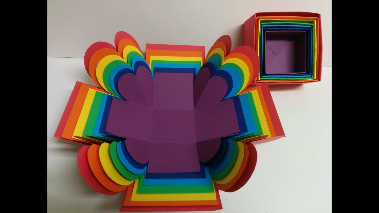 Art And Craft: Surprise Explosion Box/ Rainbow Explosion