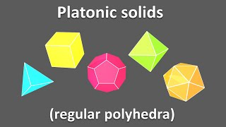 3d shapes for kids children to learn. Platonic solids / regular polyhedra Educational video cartoon